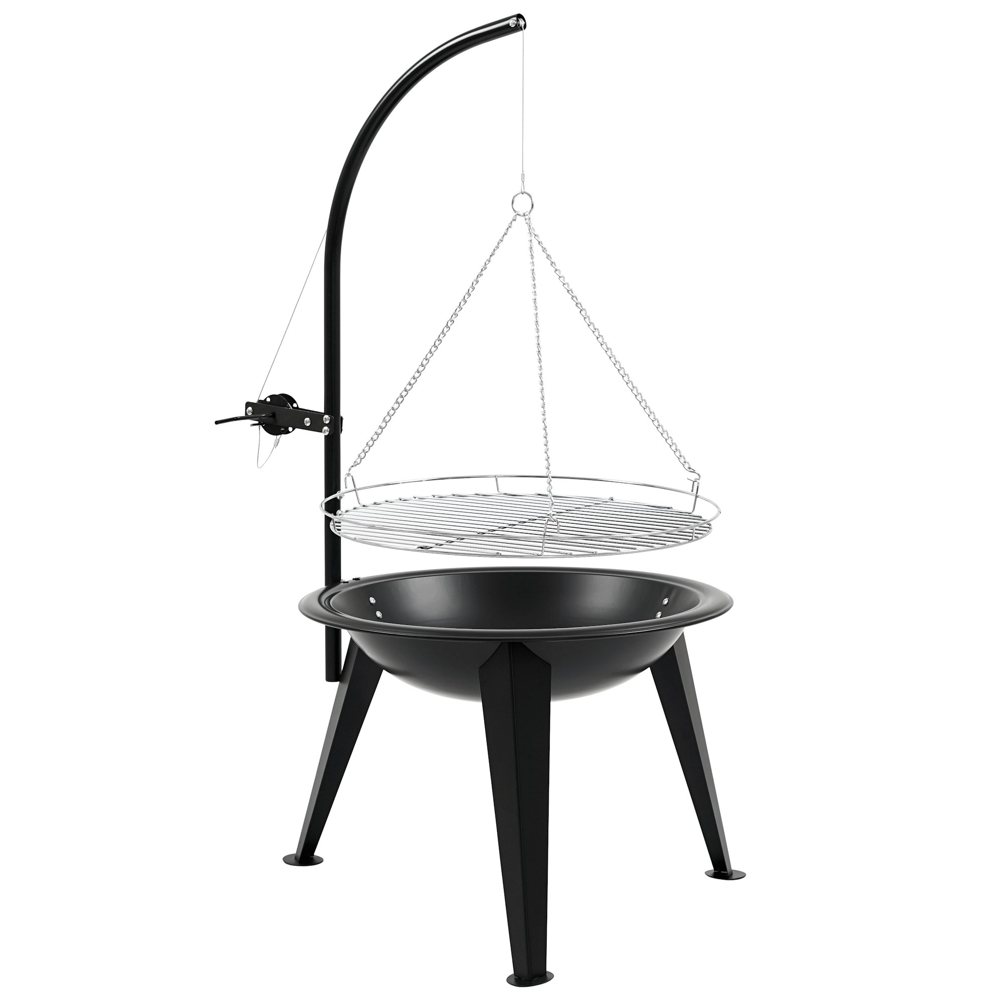 bbq toro schwenkgrill holzkohle grill 55 cm schwenker mit grillrost bbq der. Black Bedroom Furniture Sets. Home Design Ideas