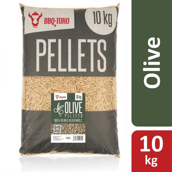 BBQ-Toro 10 kg Olive Pellets aus 100% Olivenbaumholz | Olivenpellets