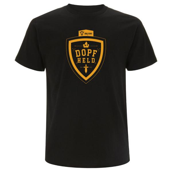 BBQ-Toro T-Shirt DOPFHELD schwarz Größe L orangefarbener Siebdruck
