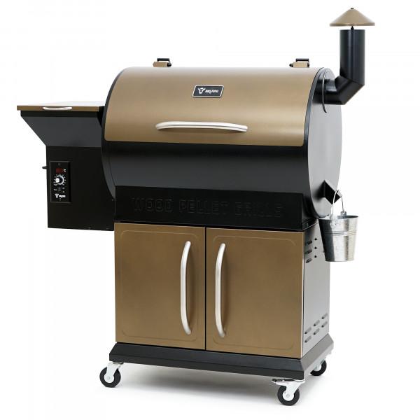 BBQ-Toro Pellet Smoker Grill PG1 | Schwarz - Gold | Pelletgrill