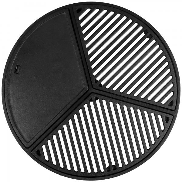 BBQ-Toro Gusseisen Plancha Set für 57 cm Kugelgrill | Grillrost und Grillplatte