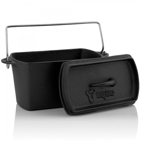 BBQ-Toro Gusseisen Backtopf | 2 Liter | Dutch Oven Topf