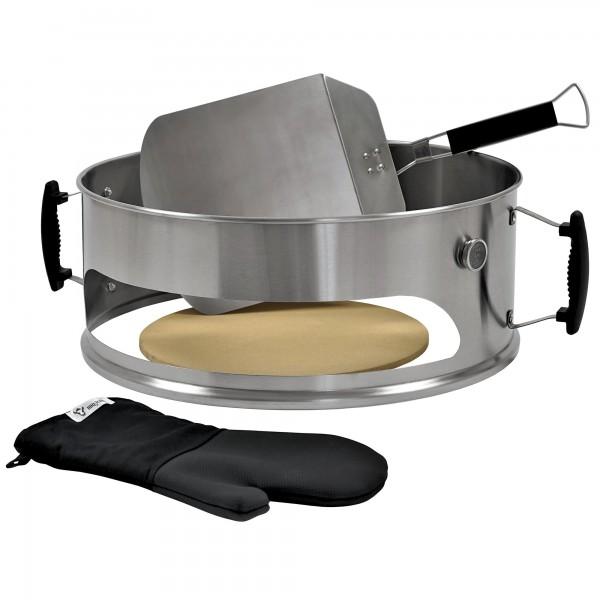 BBQ-Toro Pizza Einsatz Set für Ø 57 cm Kugelgrill, Edelstahl Element