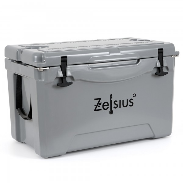 Zelsius Kühlbox grau 50 Liter   Cooling Box ideal für Auto Camping
