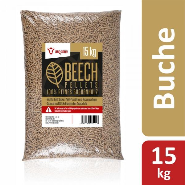 BBQ-Toro 15 kg Beech Pellets aus 100% Buchenholz | Buchenpellets