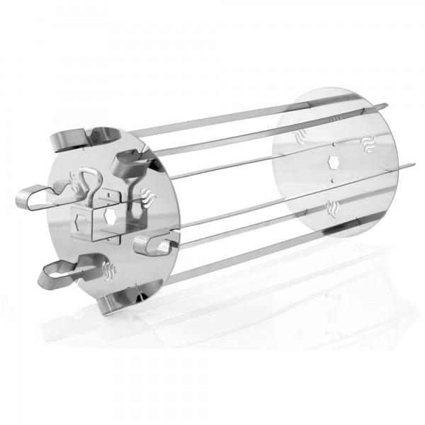 BBQ-Toro Edelstahl Rondell Grillspießgestell für Drehspieß 6 Spieße