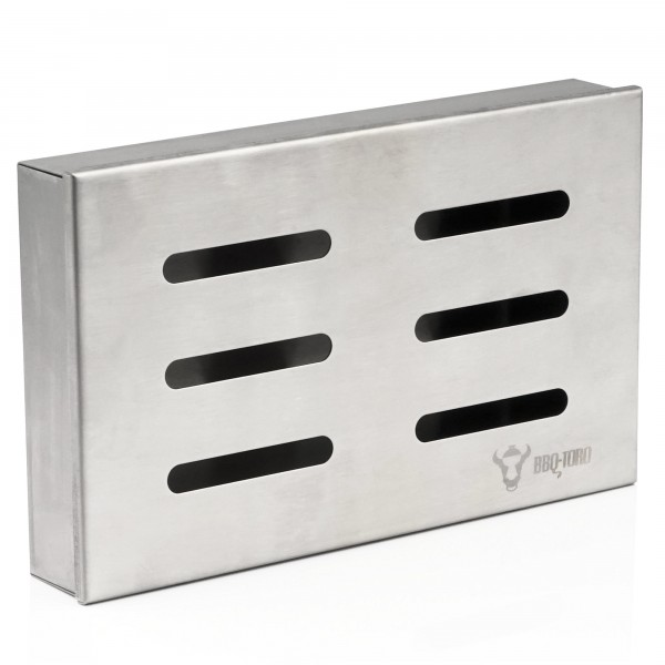 "BBQ-Toro Edelstahl Räucherbox ""Cherry"" | 21 x 13 x 3,5 cm | Smokerbox"