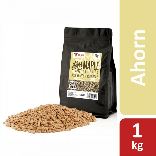 BBQ-Toro 1 kg Maple Pellets aus 100% Ahornholz | Ahornpellets