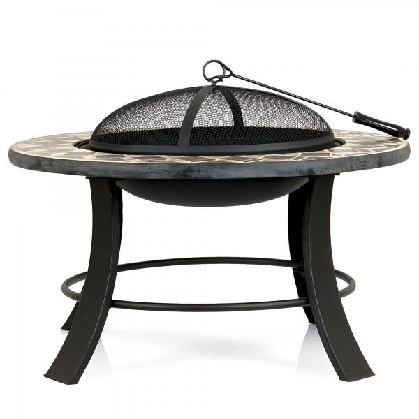 BBQ-Toro Feuerschale | Ø 75 cm | Feuerstelle mit Funkenschutz und Schürhaken