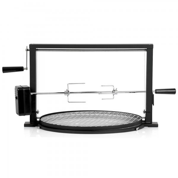 BBQ-Toro Grillspieß Set mit Grillrost | Rotisserie Grillaufsatz für Kugelgrill