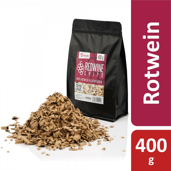 BBQ-Toro Redwine Smoker Chips | 400 g | aus 100% Rotwein-Eichenfässer