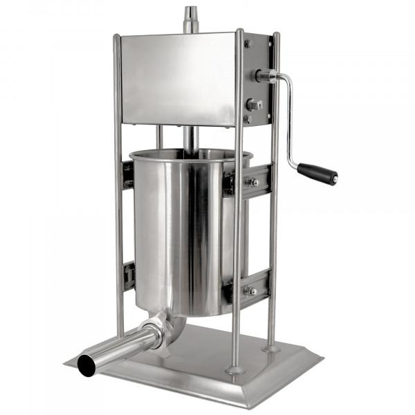 Zelsius Profi Wurstfüllmaschine, 10 Liter, Edelstahl Wurstfüller