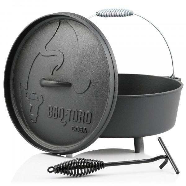 BBQ-Toro Dutch Oven DO6A, 5,5 L Alpha Gusseisen Kochtopf, Gusstopf