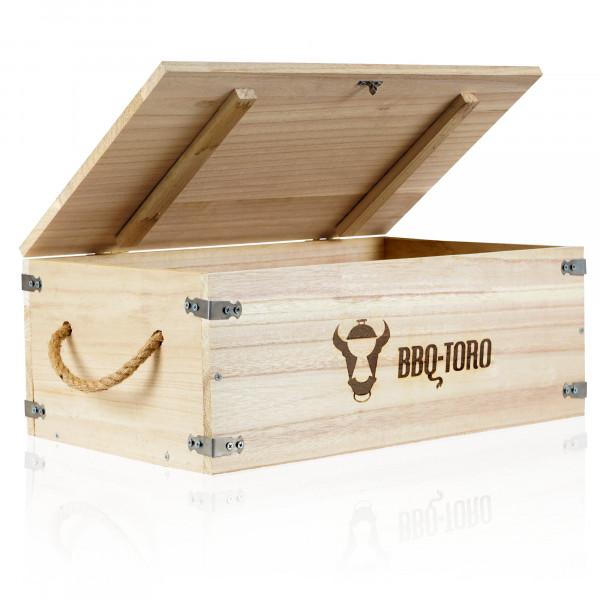 BBQ-Toro Rustikale Holzkiste 27,5 l für Dutch Oven und Grillzubehör