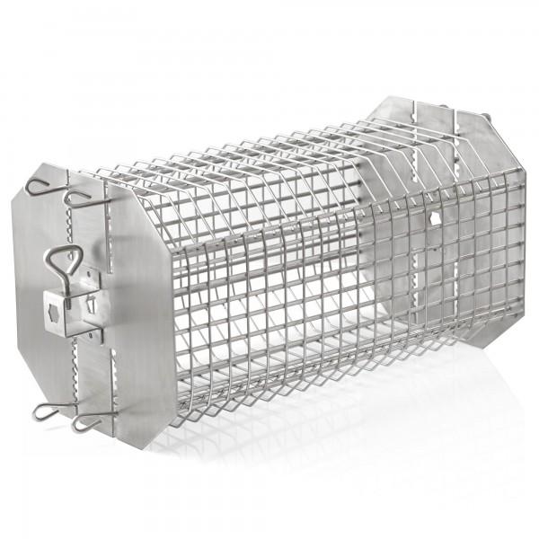 BBQ-Toro Edelstahl Rondell Grillkorb für Drehspieße höhenverstellbar