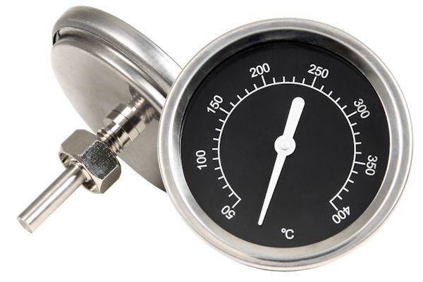 Thermometer bis 400 °C, für Smoker oder Grillwagen