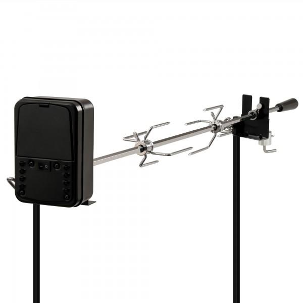 BBQ-Toro Grillspieß Set für Lagerfeuer, 90 cm, 2 Fleischnadeln, Motor (Batterie)