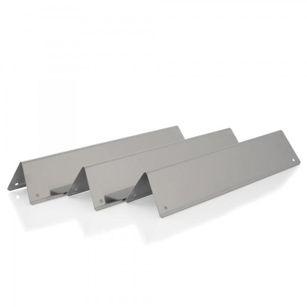 BBQ-Toro Edelstahl Flammenverteiler Set (3 Stück)   38,8 x 8,7 cm   Aromaschiene