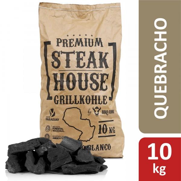 BBQ-Toro Premium Steak House Grillkohle | 10 kg | Querbracho Blanco