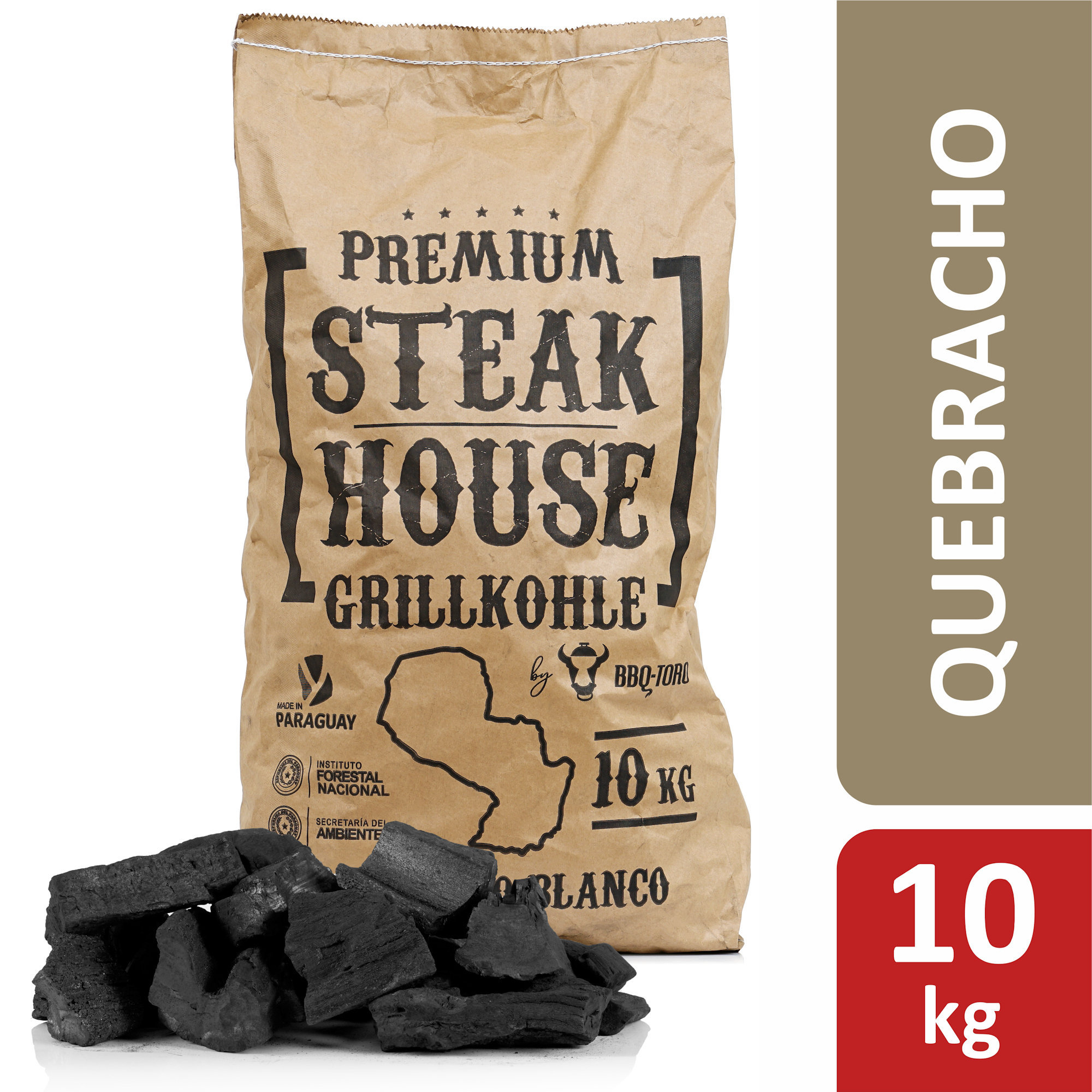 BBQ-Toro Premium Steak House Grillkohle20 kgQuerbracho Blanco Restaurant