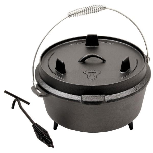 BBQ-Toro 9 QT Dutch Oven DO509, Gusseisen Topf, 7,8 L Gusstopf, Bräter