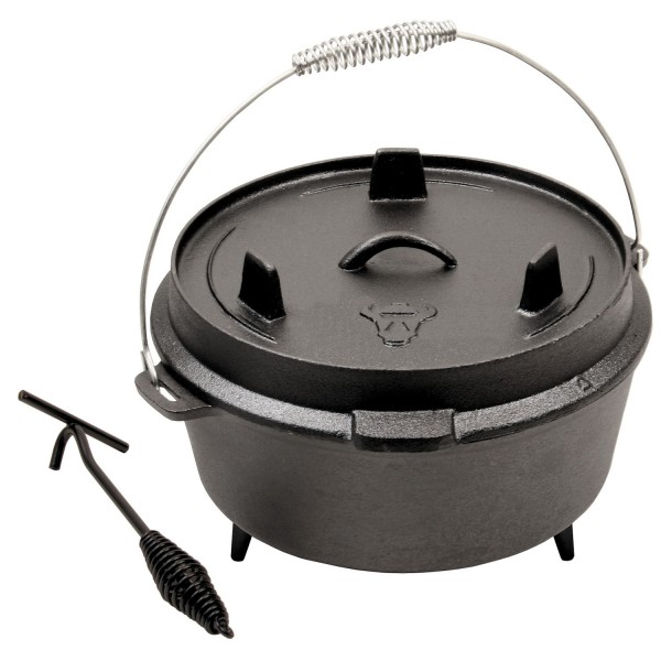 BBQ-Toro Dutch Oven DO6, 7,3 L Gusseisen Kochtopf, Gusstopf, Bräter