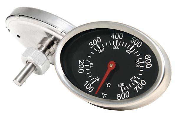Ovales Thermometer bis 430 °C, für Smoker oder Grillwagen