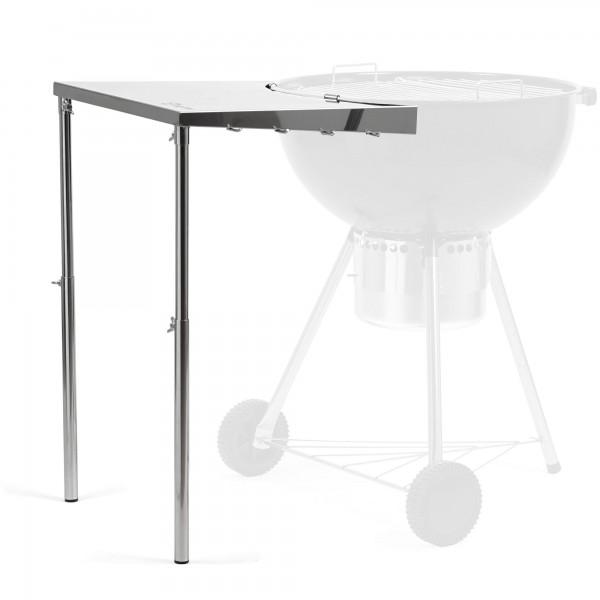 BBQ-Toro Edelstahl Beistelltisch für Ø 57 cm Kugelgrill | Seitentisch