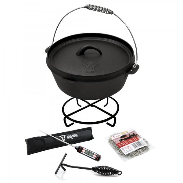 BBQ-Toro Dutch Oven Set für echte Profis, 5-teilig, *Freude schenken*