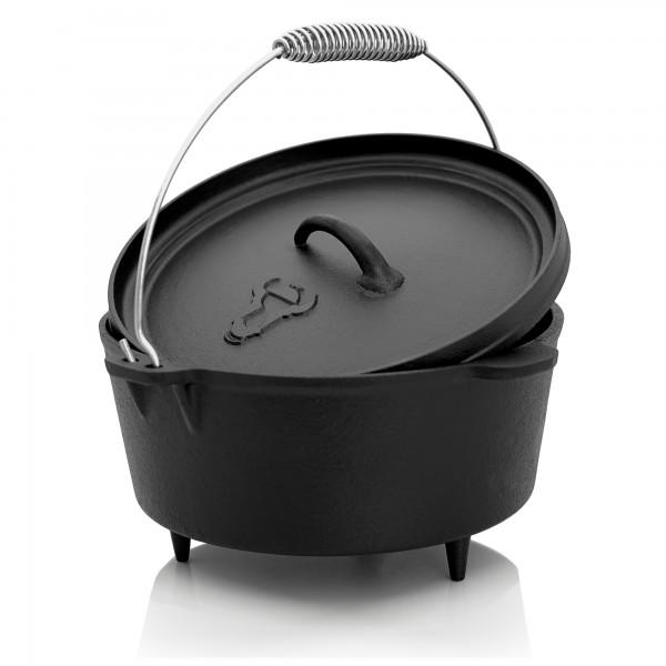 BBQ-Toro 4,5 QT Dutch Oven ,Gusseisen Topf DO545, 4,2 L Gusstopf