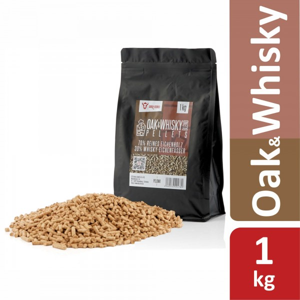 BBQ-Toro 1 kg Oak & Whisky Blend Pellets | 70% Eiche und 30% Whisky