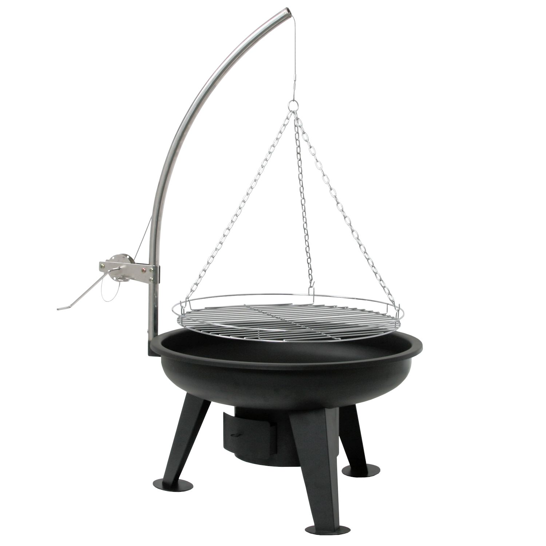 bbq toro schwenkgrill holzkohle grill 64 cm schwenker mit grillrost bbq der. Black Bedroom Furniture Sets. Home Design Ideas