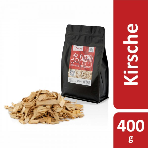 BBQ-Toro Cherry Smoker Chips (400 g) Räucherchips aus Kirschholz