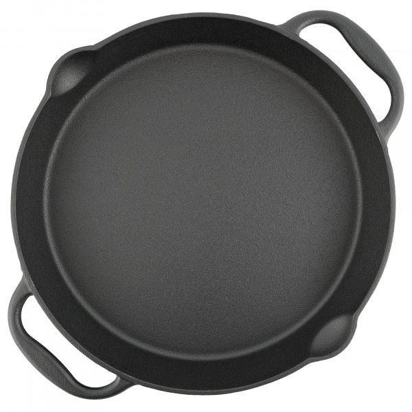 BBQ-Toro Gusseisen Grillpfanne Ø 35 cm - Servierpfanne mit Ausgießer
